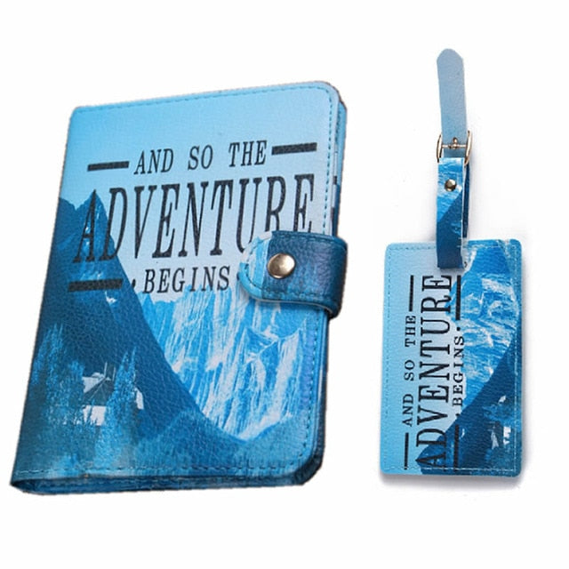 Passport Cover with Matching Luggage Tag - The Traveler's Essentials