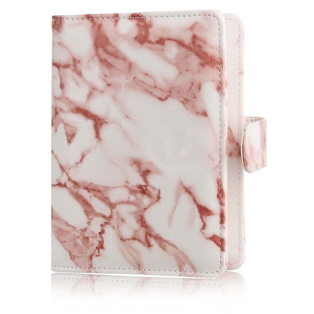 RFID Leather Passport Cover in Marble - The Traveler's Essentials