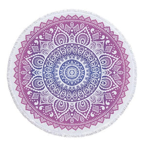 Round Lotus Flower Beach Towel and Cover-Up - The Traveler's Essentials
