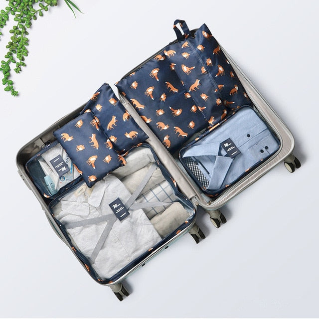 Animal Print Packing Cubes and Luggage Storage Bags (7 Pack) - The Traveler's Essentials