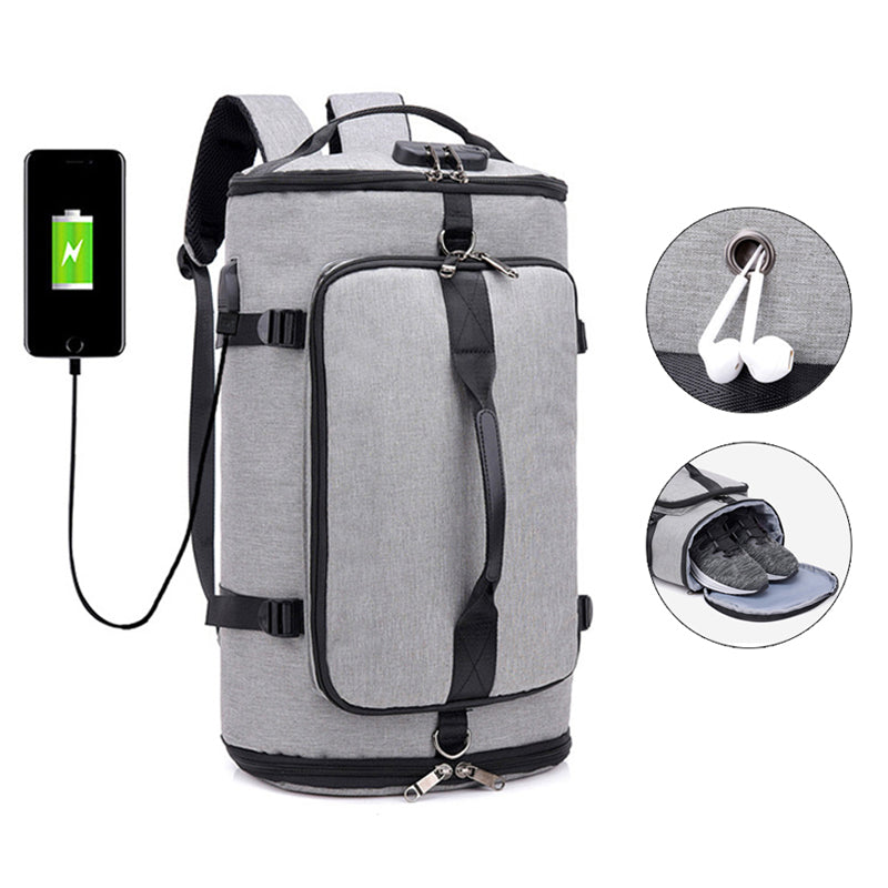 Convertible Anti-Theft Duffle Backpack