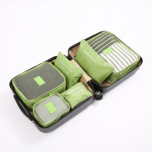 6 Piece Multi-Colored Packing Cubes - The Traveler's Essentials