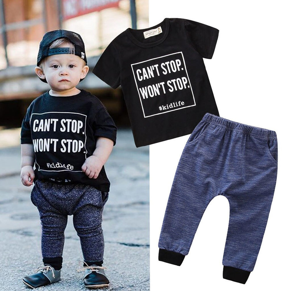 Can't Stop Won't Stop Toddler/Infant Tee & Pants