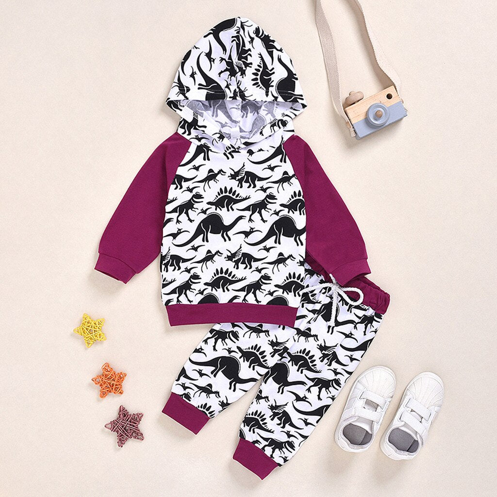 Infant/Toddler Dinosaur Hoodie & Joggers