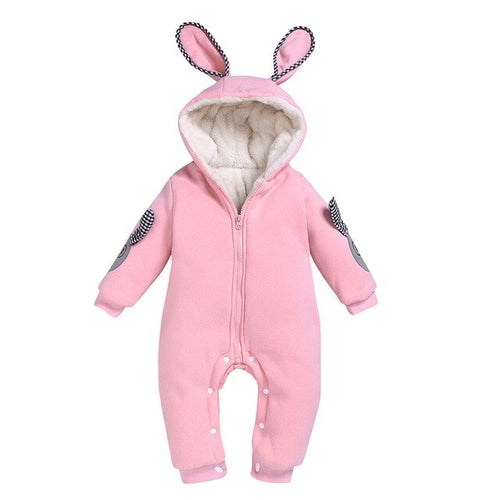 Hooded Rabbit Romper