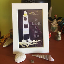 Load image into Gallery viewer, Lighthouse Framed Print with quote