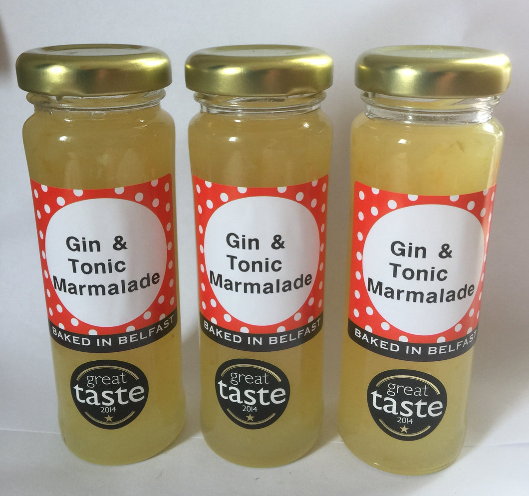 Gin & Tonic Marmalade set of three