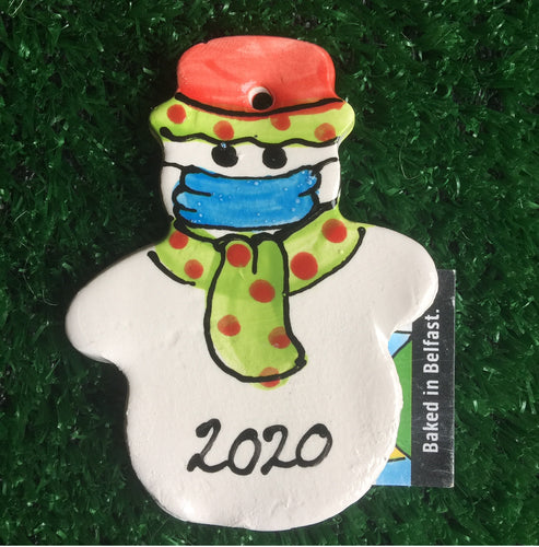 2020 Facemask Snowman Hanging Decoration
