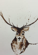 Load image into Gallery viewer, Stag Watercolour Painting