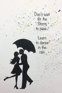 Dancer Print, dance in the rain