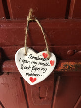 Load image into Gallery viewer, Out Pops Mother Ceramic Hanging Heart