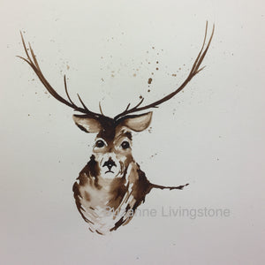 Stag Watercolour Painting