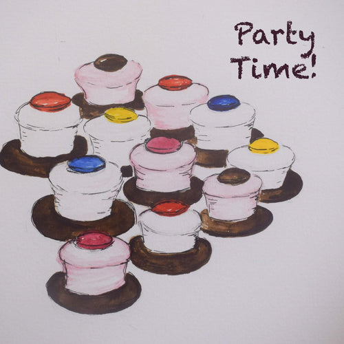 Party Time! Birthday Card with Top Hats