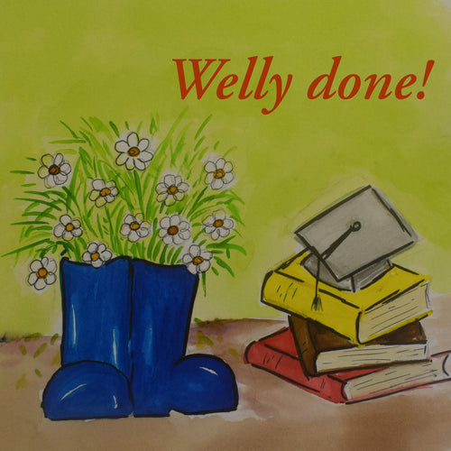Welly Done Funny and cute well done, congratulations card