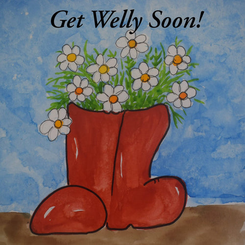 Get Welly Soon Get Well card