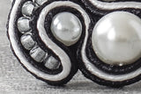 Brooch - Black and white