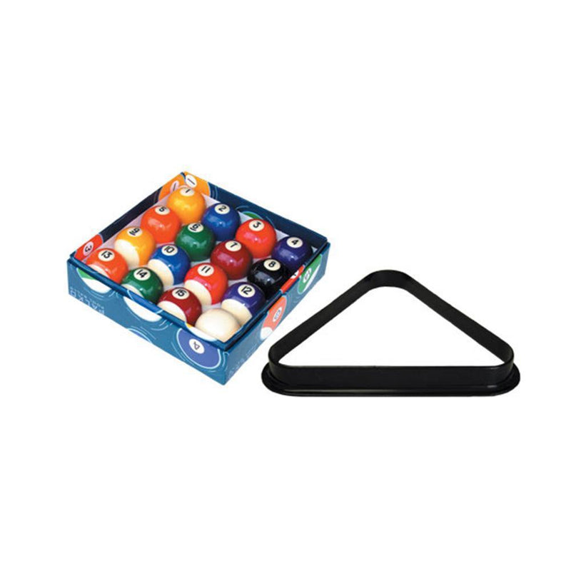 1 1/2″ Pool Balls & Triangle Set-MO REPS® Fitness Store