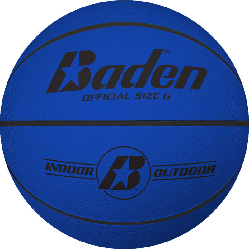 Baden Classic Rubber Basketball - Size 6 for ages 10 and up - blue
