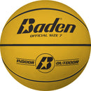 Baden Classic Rubber Basketball - Size 7 for ages 15 and up - yellow
