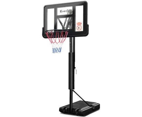 Basketball Hoop System Adjustable Black Regulation Height