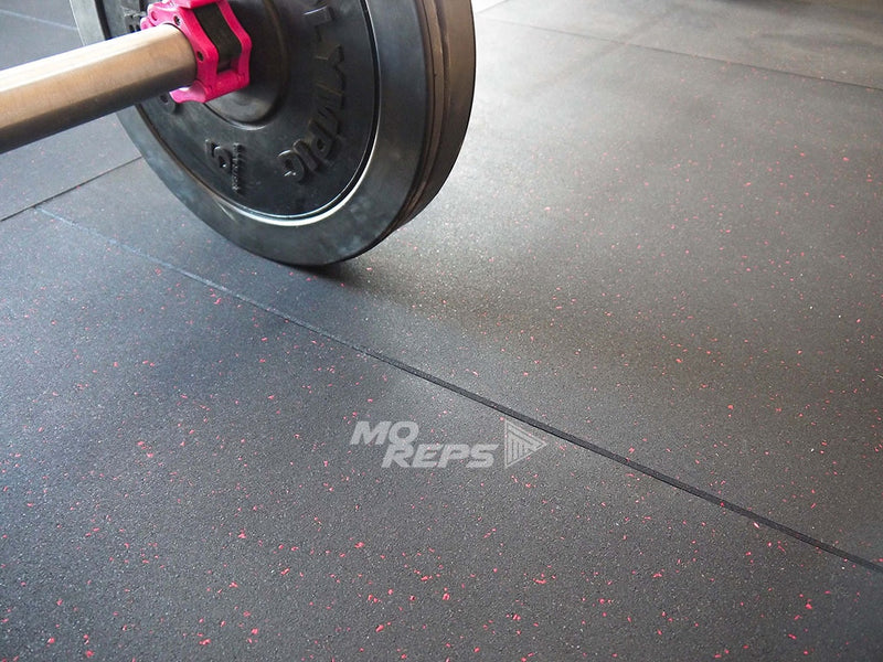 Commercial Gym Flooring: Black with Coloured Flecks