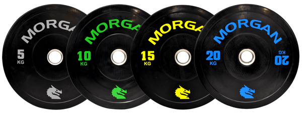Morgan 100kg Olympic Bumper Plate Pack