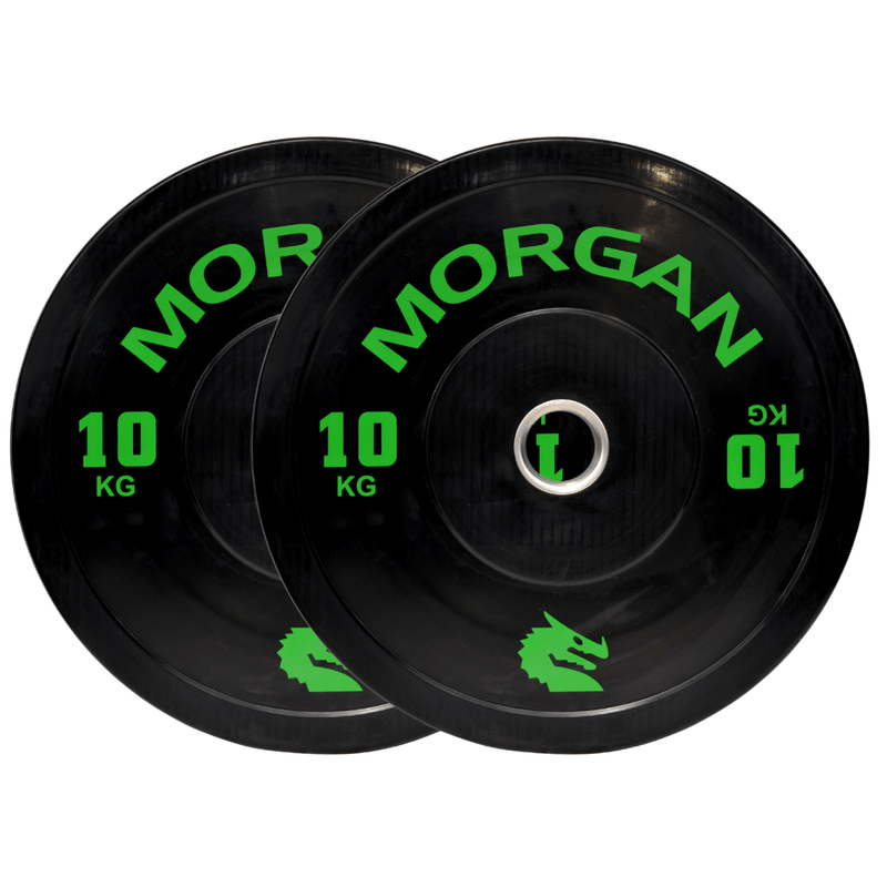 Morgan 10kg Olympic Bumper Plates (Pair)
