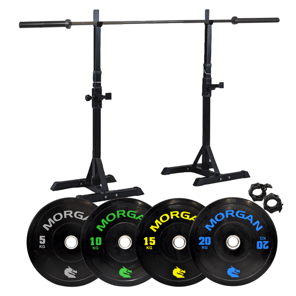 Morgan Squat Rack Barbell Bumper Plate Pack
