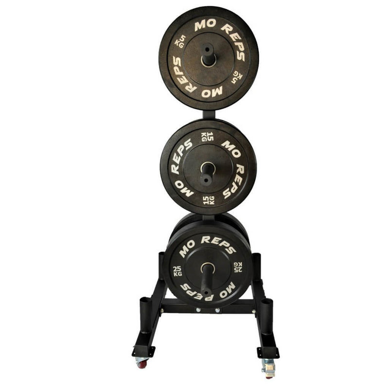 Portable Olympic Bar & Weights Storage Tree