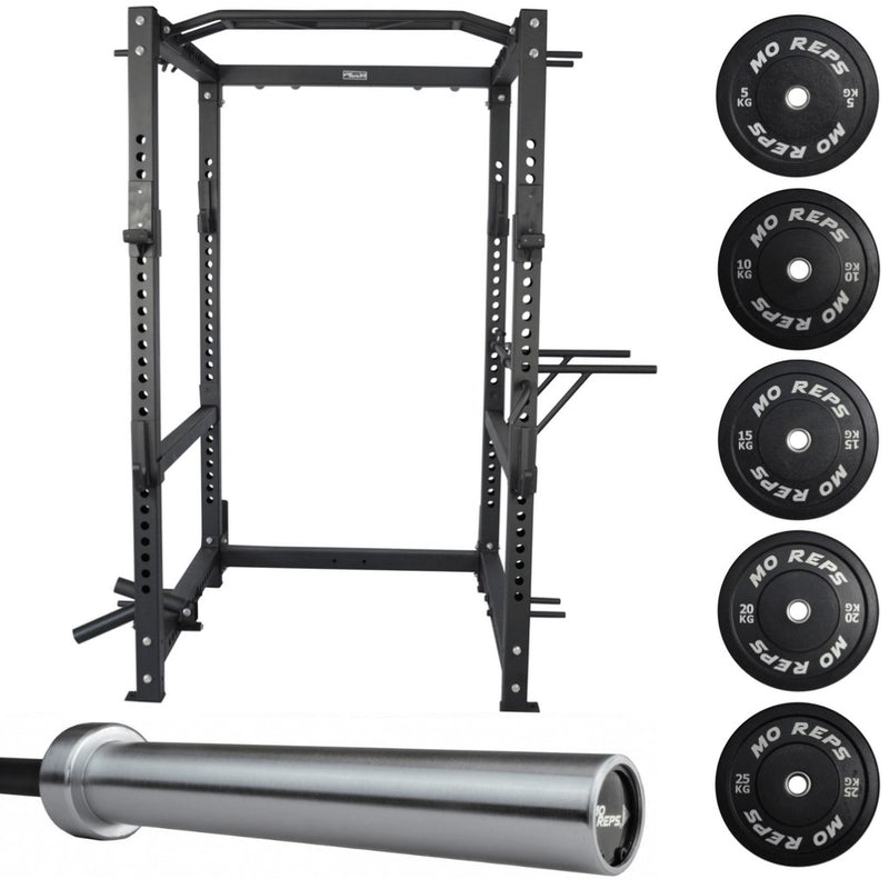 100Kg Heavy Duty Bumper Plate & Barbell Package
