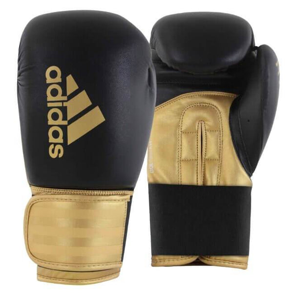 Adidas Hybrid 100 Boxing Gloves-BlackGold-12oz-MO REPS® Fitness Store