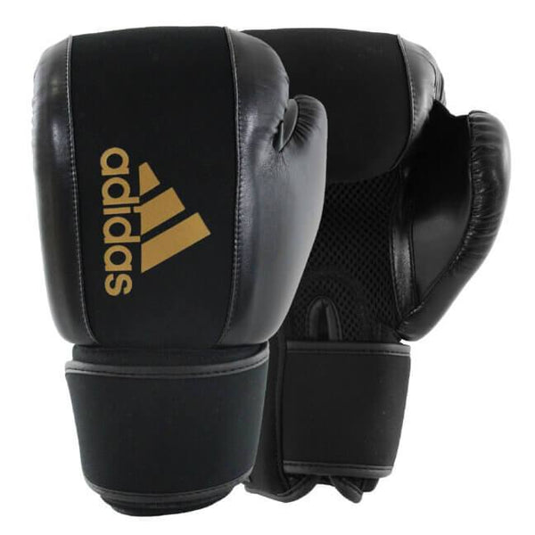 Adidas Washable Boxing Gloves-BlackGold-S/M-MO REPS® Fitness Store