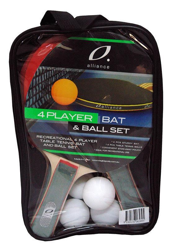 Alliance 4 Player Bat And Ball Table Tennis Set-MO REPS® Fitness Store