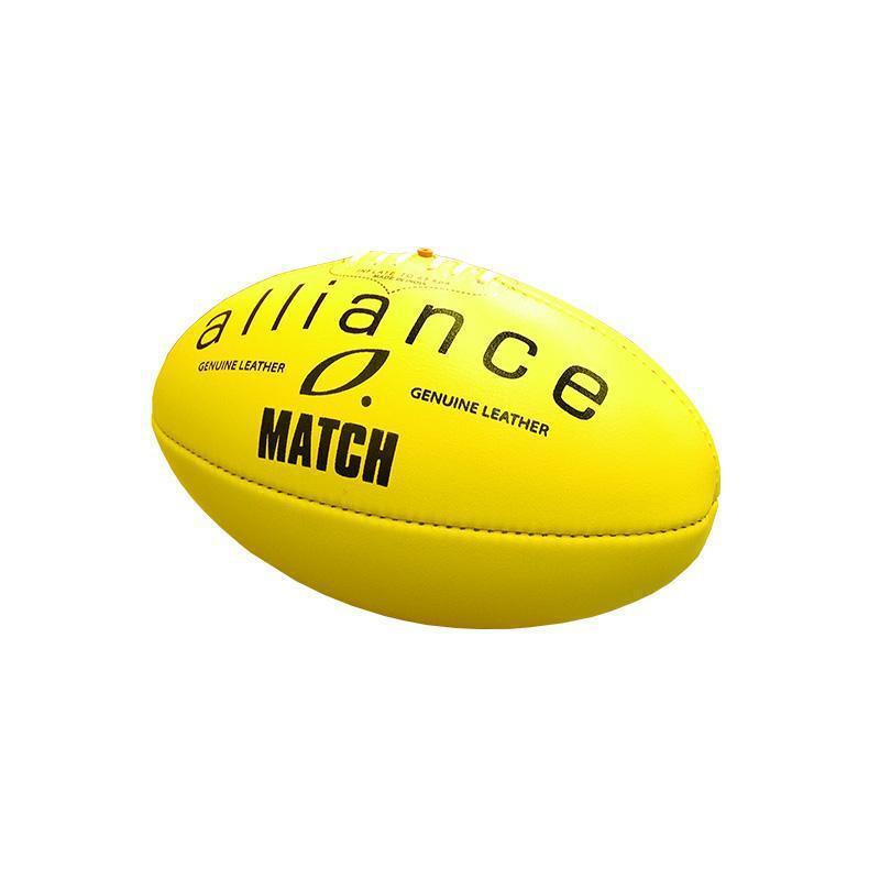 Alliance Leather Football Match - Yellow - Size 5-MO REPS® Fitness Store