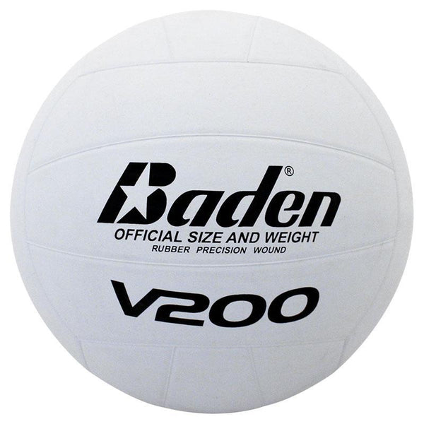 Baden V200 Rubber Volleyball - White-MO REPS® Fitness Store