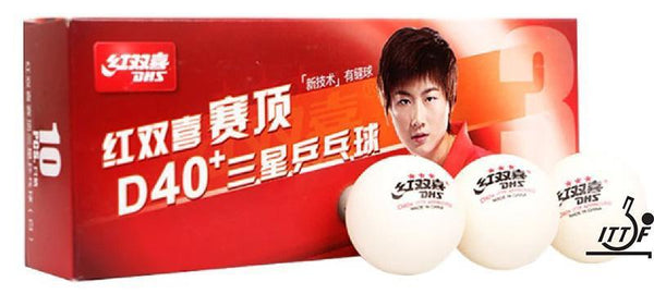 DHS Table Tennis Balls D40+ 3 Star Abs - Box Of 10-MO REPS® Fitness Store