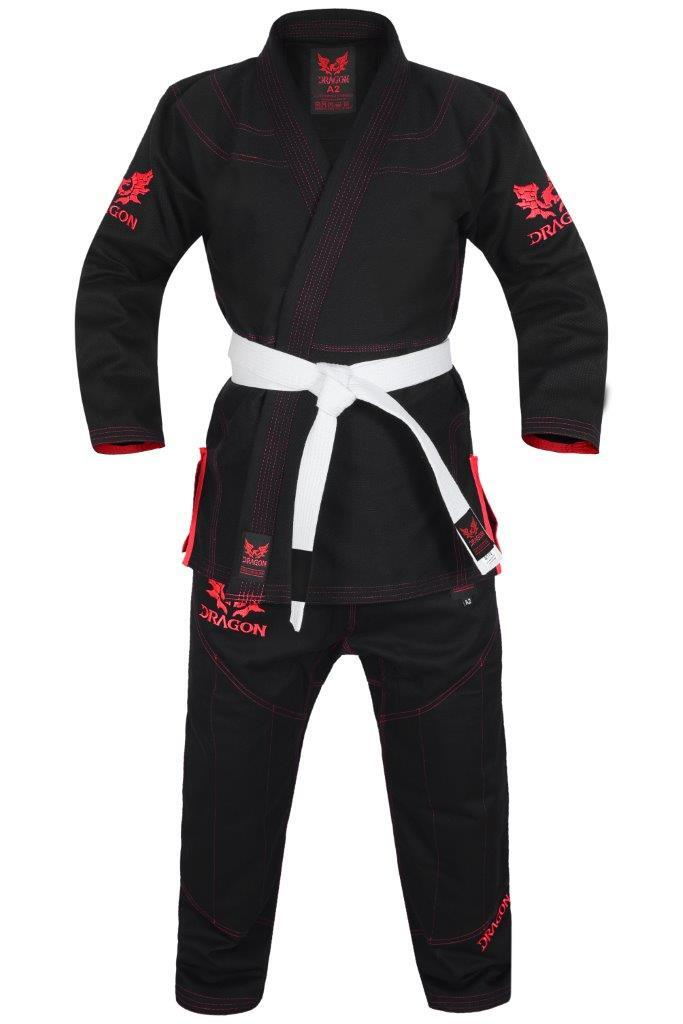Dragon V2 450 gsm BJJ Gi - IBJJF Approved (Black)-MO REPS® Fitness Store