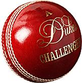 Dukes Challenger Cricket Ball-142g-Red-MO REPS® Fitness Store