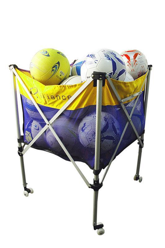 Foldable Ball Cart (Tote) - Aluminium-MO REPS® Fitness Store