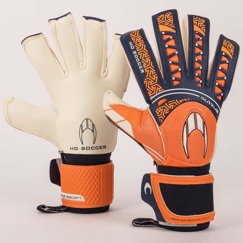 Ikarus SSG Roll Negative Goalkeeping Gloves - Orange & Navy-MO REPS® Fitness Store