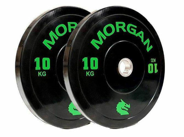 Morgan 10kg Olympic Bumper Plates (Pair)-MO REPS® Fitness Store