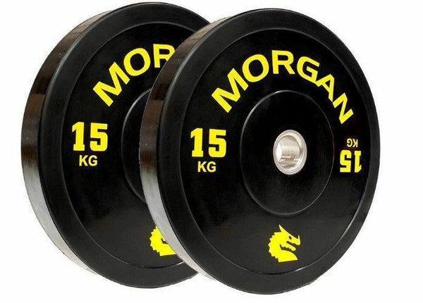 Morgan 15kg Olympic Bumper Plates (Pair)-MO REPS® Fitness Store