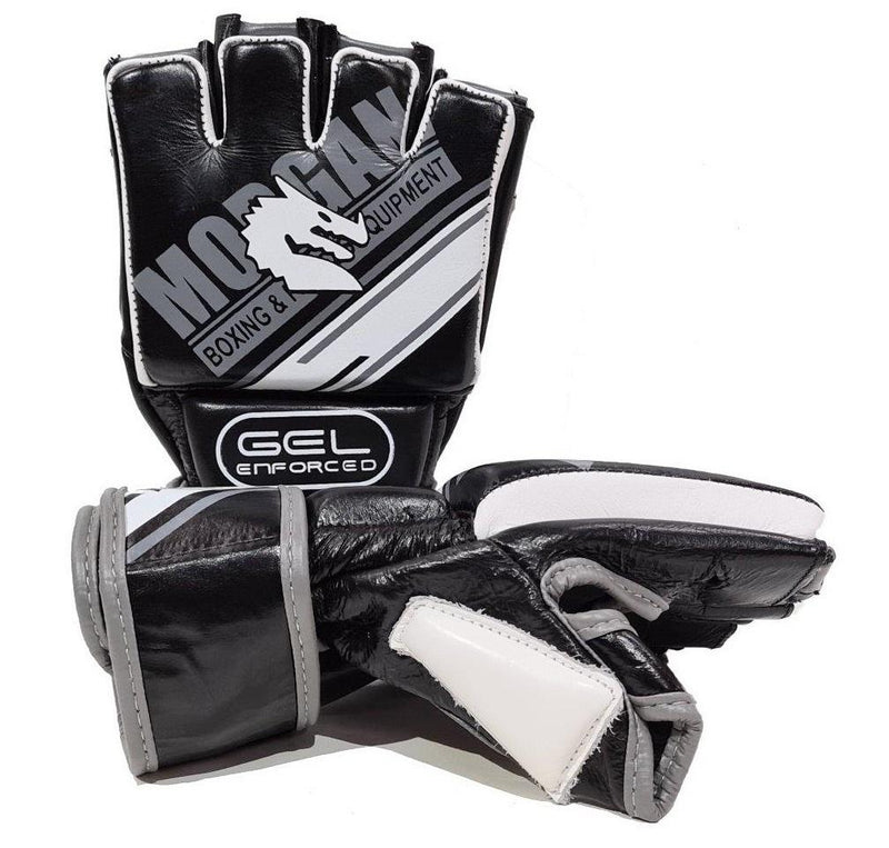 Morgan Aventus Gel MMA Hybrid Leather Bag Gloves-MO REPS® Fitness Store