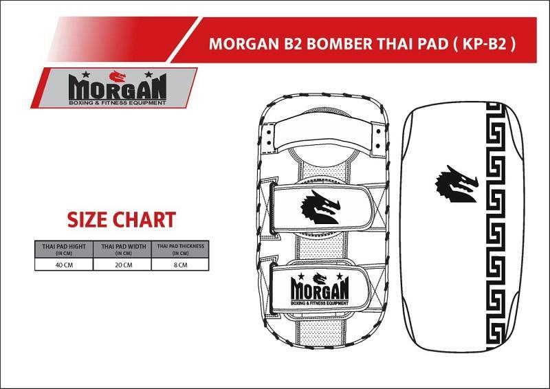 Morgan B2 Bomber Leather Thai Pads (Pair)-MO REPS® Fitness Store