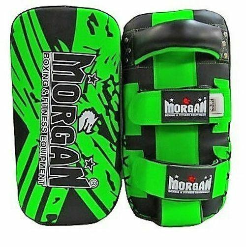 Morgan BKK Curved Thai Pads (Pair)-FluoroGreen-MO REPS® Fitness Store