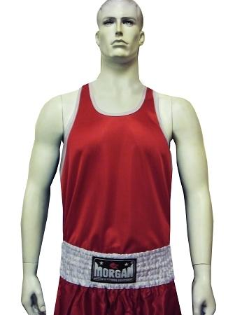 Morgan Boxing Singlet-S-Red-MO REPS® Fitness Store
