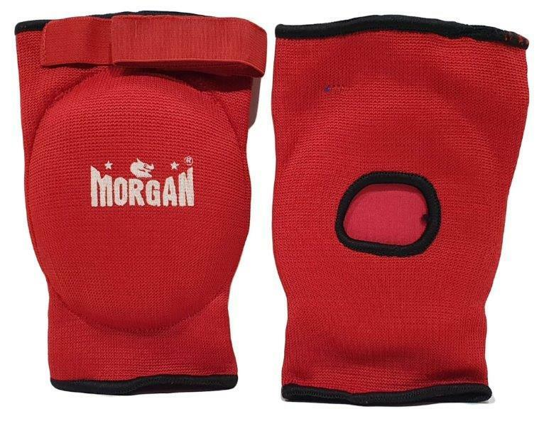 Morgan Elastic Elbow Protectors-JNR-Red-MO REPS® Fitness Store