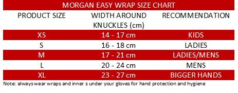 Morgan Elasticated Easy Hand Wraps-MO REPS® Fitness Store