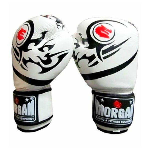 Morgan Elite Boxing & Muay Thai Gloves-8oz-White-MO REPS® Fitness Store