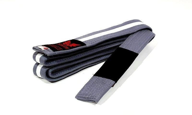 Morgan IBJJF Approved BJJ Belt-M-3-Grey White-MO REPS® Fitness Store